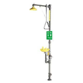 Speakman SE-690-PVC Traditional Series SE-690-PVC PVC Combination Emergency Shower & Eye/face Wa