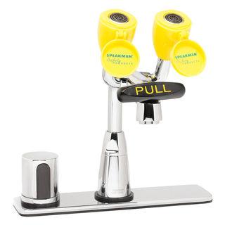Speakman SEF-1812 Eyesaver® SEF-1812 Batt. Op. Sensor Eyewash Faucet with Under-counter Mixing V