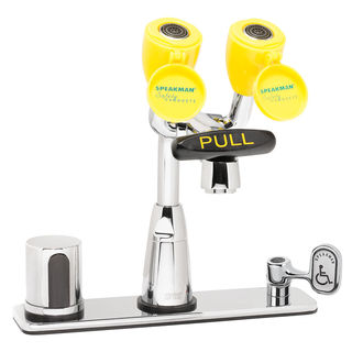 Speakman SEF-1815 Eyesaver® SEF-1815 Batt. Op. Sensor Eyewash Faucet with Under-counter Mixing V