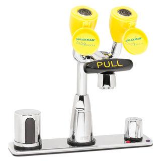 Speakman SEF-1824 Eyesaver® SEF-1824 AC Op. Sensor Eyewash Faucet with Above Counter Mixing Valv
