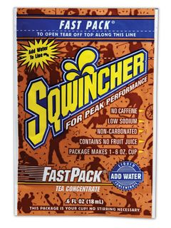 Sqwincher® Fast Pack® 6 oz. Liquid Concentrate Packet, Tea