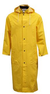 "Tingley C53217 .35MM Industrial Work Coat - Yellow - 48"" - Storm Fly Front - Detachable Hood,"