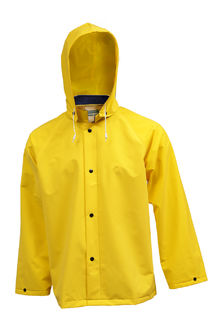 Tingley J53207.SM .35MM Industrial Work Jacket - Yellow - Detachable Hood, Size SM