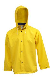 Tingley J53207 .35MM Industrial Work Jacket - Yellow - Detachable Hood, Size LG