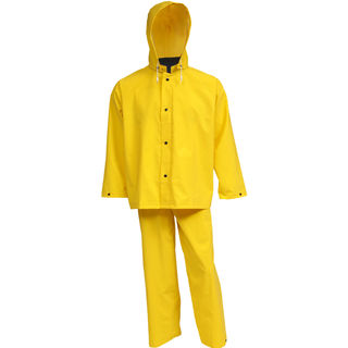 Tingley S53307 .35MM Industrial Work Suit - Yellow - 3 Pc - Jacket - Storm Fly Front - Detachable Ho