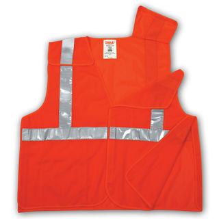 Tingley V70529 Type R Class 2 5 Point Breakaway Vest - Fluorescent Orange-Red - Polyester Mesh - Hoo