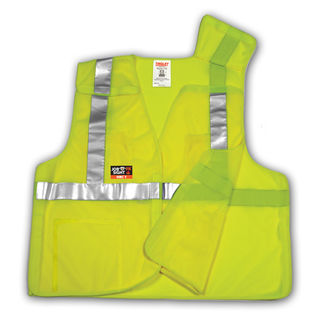 Tingley V81522 Type R Class 2 FR 5 Point Breakaway Vest - Fluorescent Yellow-Green - 55% Modacrylic/