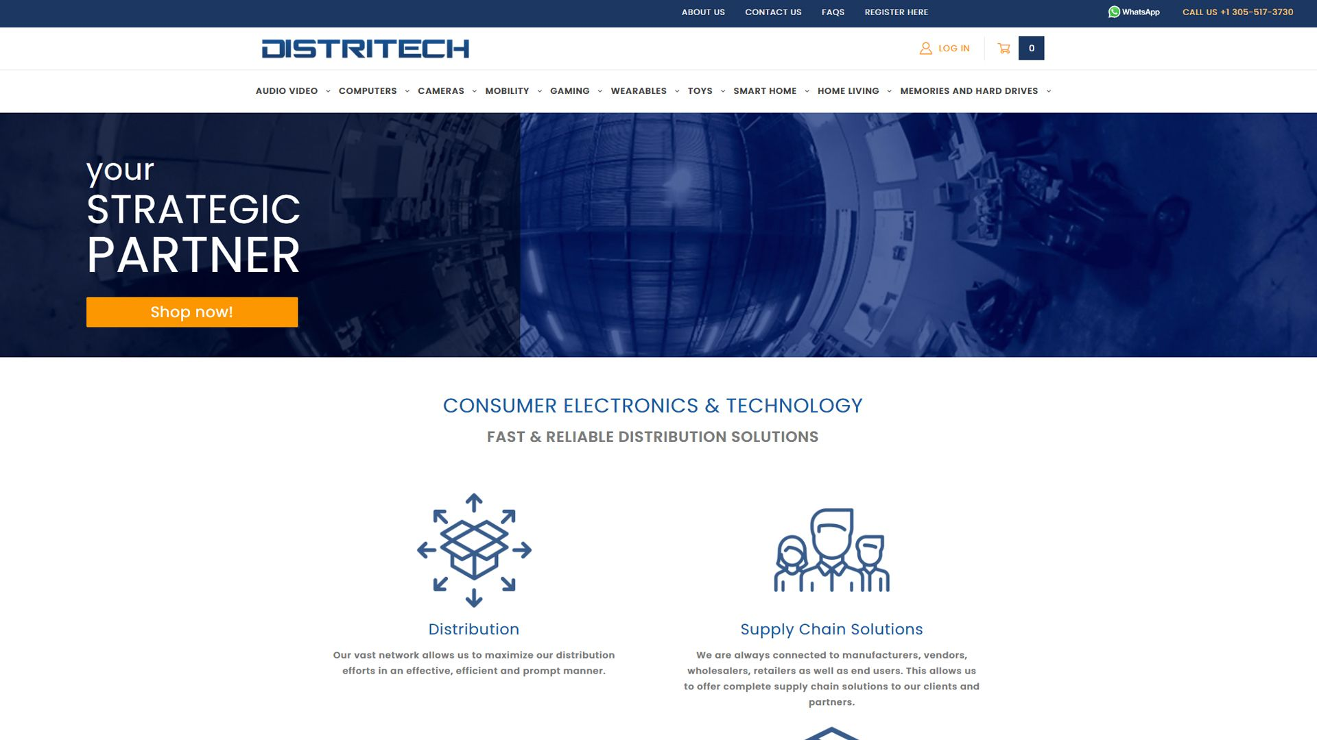 B2B Technology wholesaler site on Miva.com