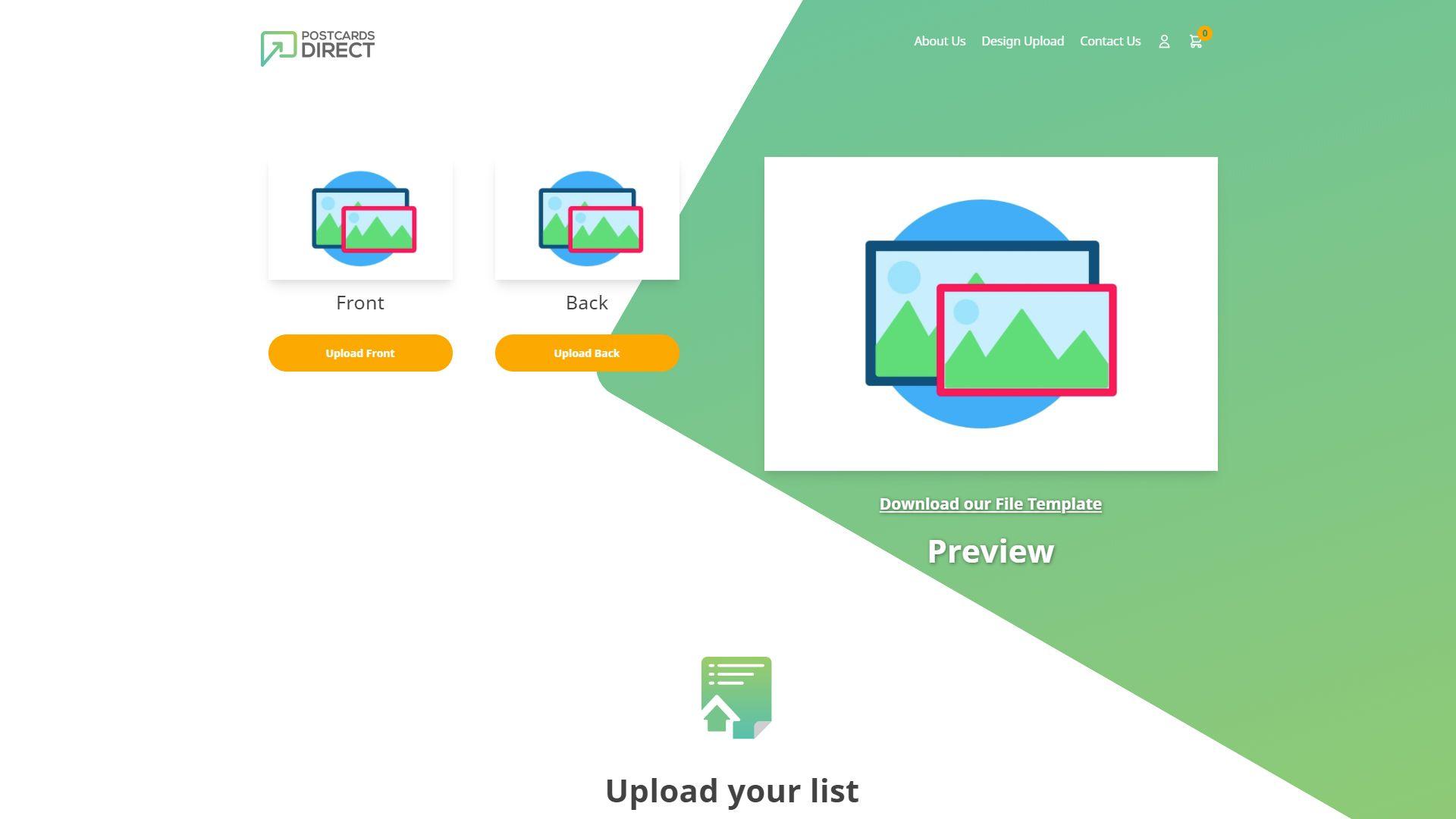 A Web2print development for postcards