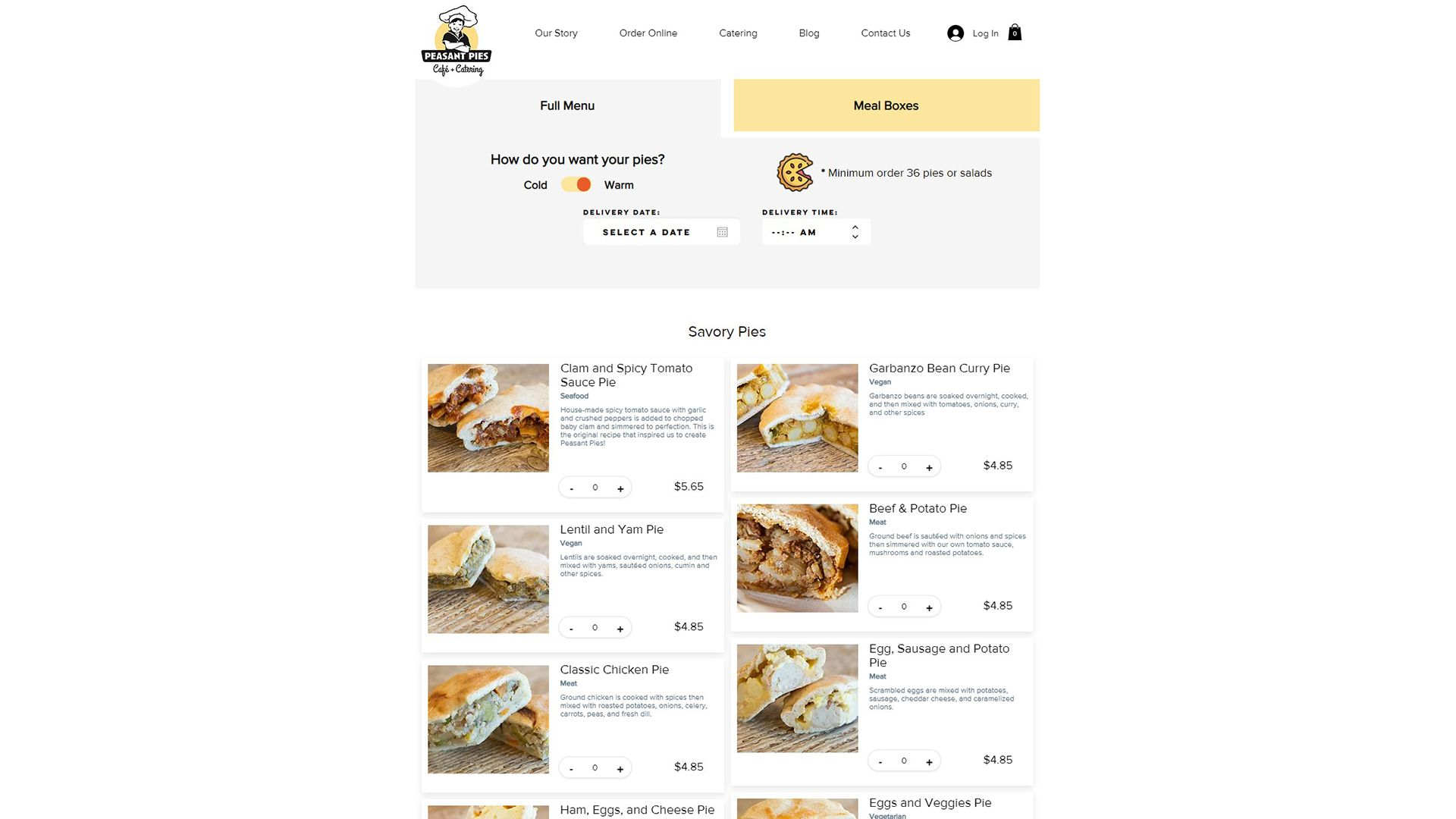 A custom Wix.com site with multi stage ordering