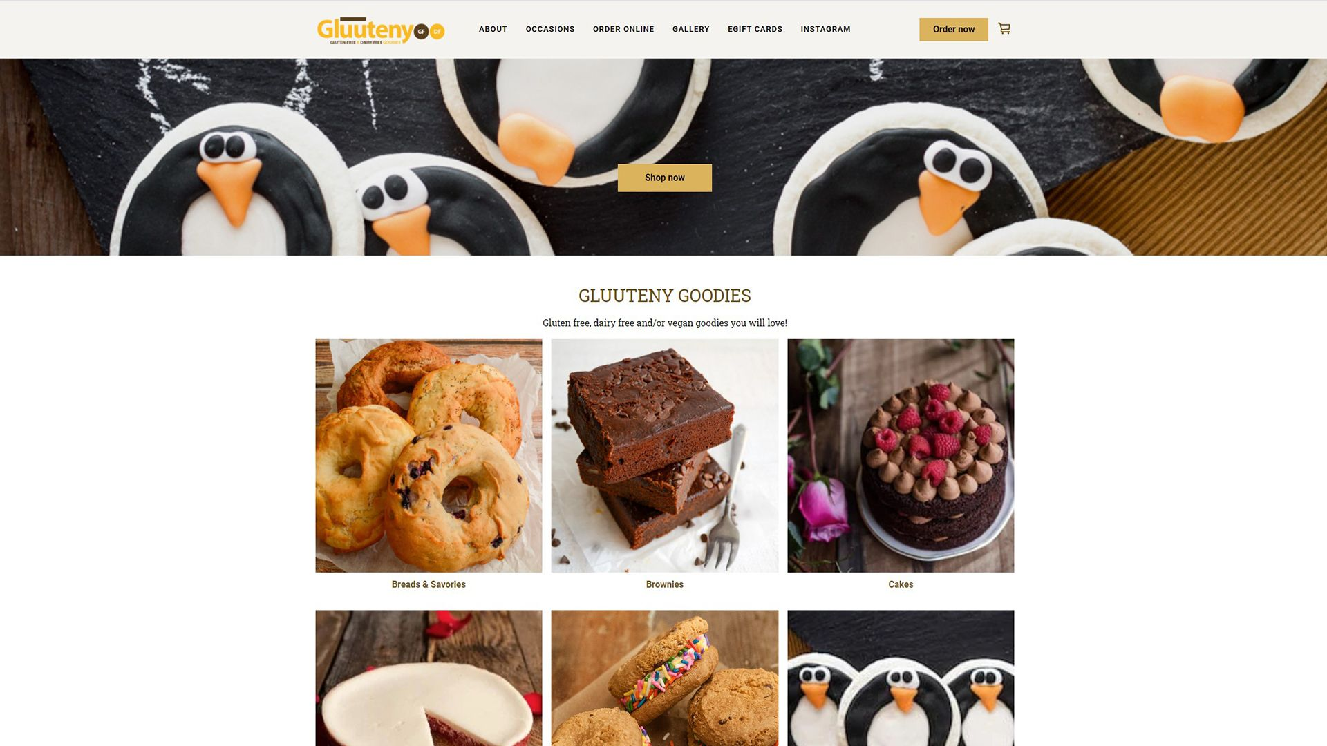 Square Online store for Gluuteny