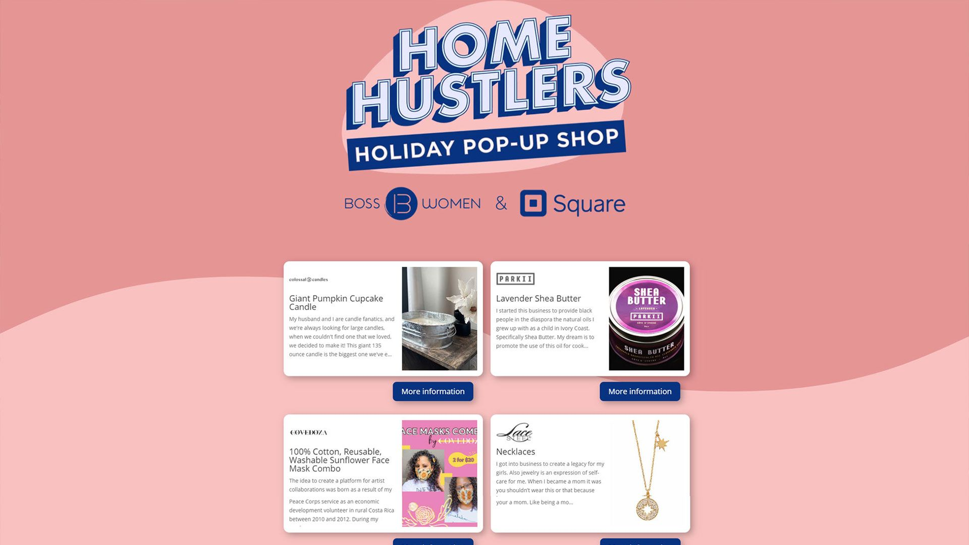 Home Hustlers holiday popup store