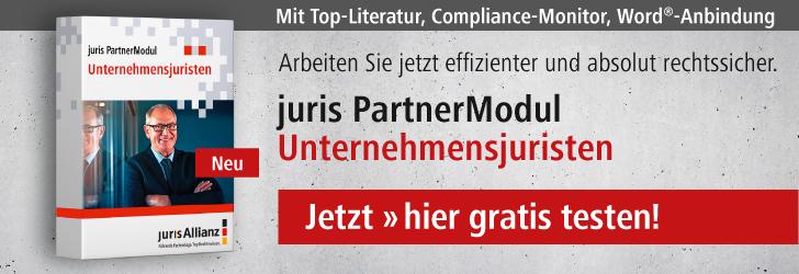 juris PartnerModul Unternehmensjuristen