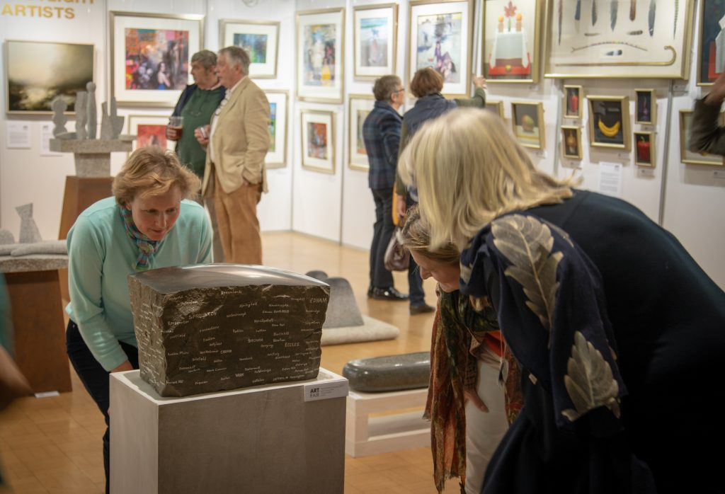 Visitors at the Borders Art Fair in Kelso
