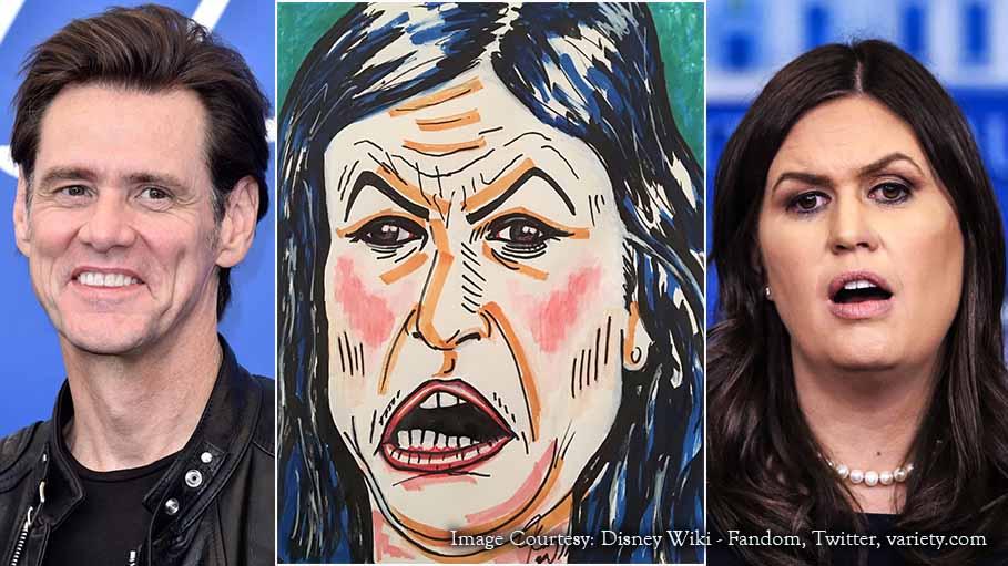 Jim Carrey Paints Sarah Sanders and Gets Slammed on Twitter