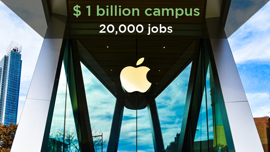 Apple to Build New $1 Billion Campus Creating 20,000 Jobs