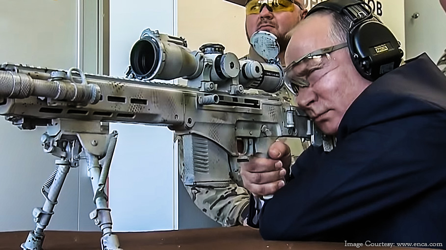 Crouching Putin's Sniper Skills with the New Kalashnikov Rifle