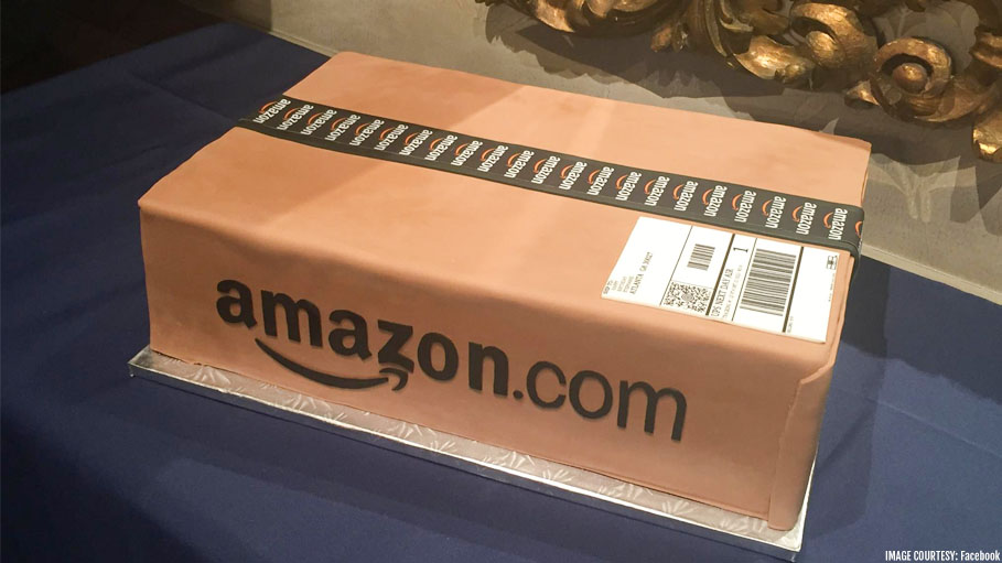 Husband Gifts Wife a Cake Designed Like an Amazon Package