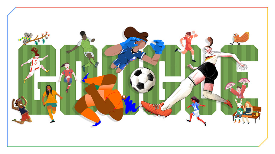 Google Kicks off FIFA Women's World Cup 2019 with This Cheery Doodle