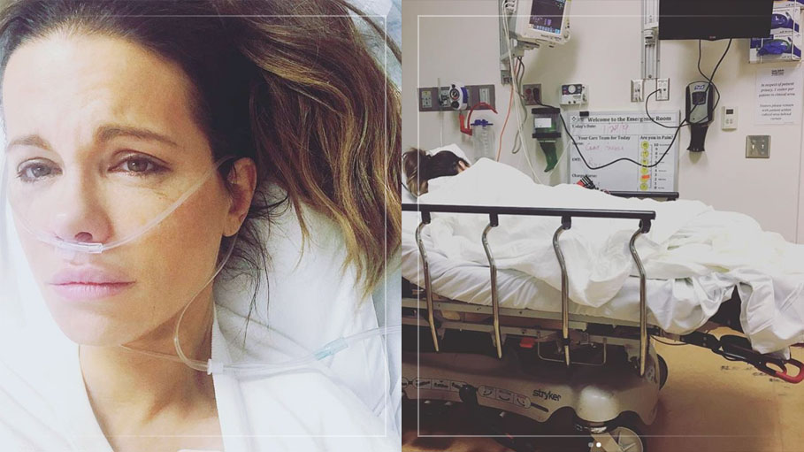 Kate Beckinsale Who Suffered from Ruptured Ovarian Cysts Shares Photographs of Herself in Hospital