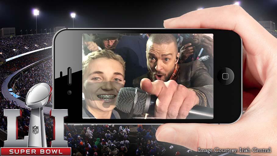Ryan McKenna's Selfie With Justin Timberlake Creates A Super Bowl Viral Moment