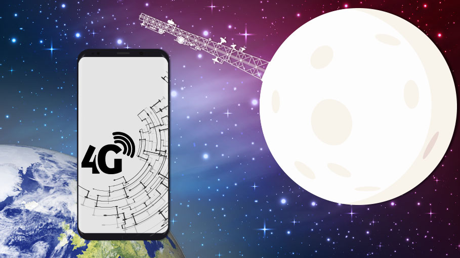 Cell Phone Connection with 4G Network on Moon by 2019