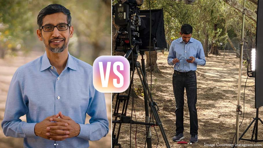 Sundar Pichai's Post Aptly Describes the 'Instagram Versus Reality' Concept