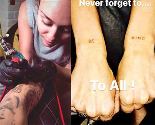 Check out The Brand New Thanksgiving Tattoo of Miley Cyrus
