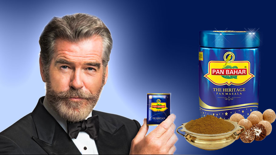 "Pierce Brosnan ""Cheated"" by Indian Mouth Freshner Brand?"