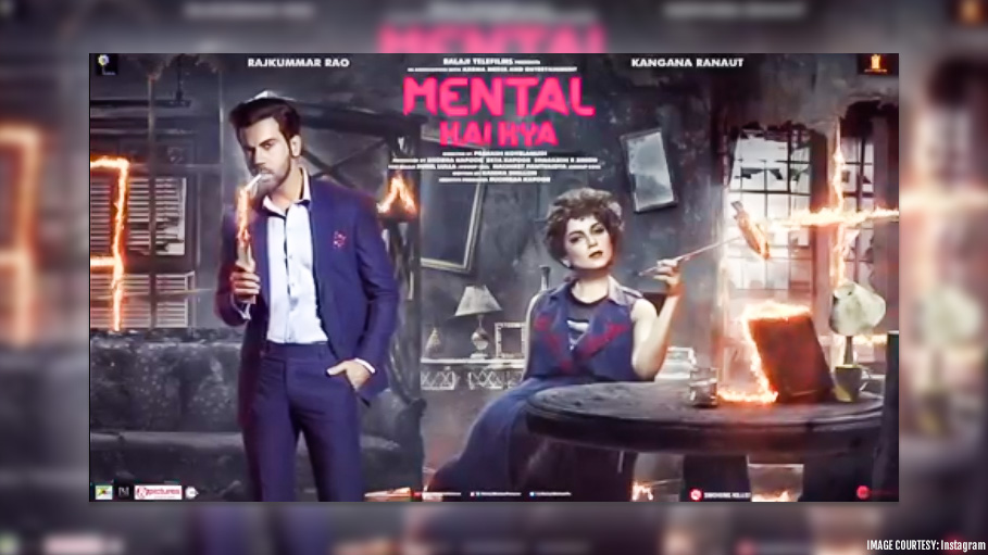 'Mental Hai Kya' Motion Poster Features Fearless Kangana and Flaming Rajkumar Rao Setting Fire