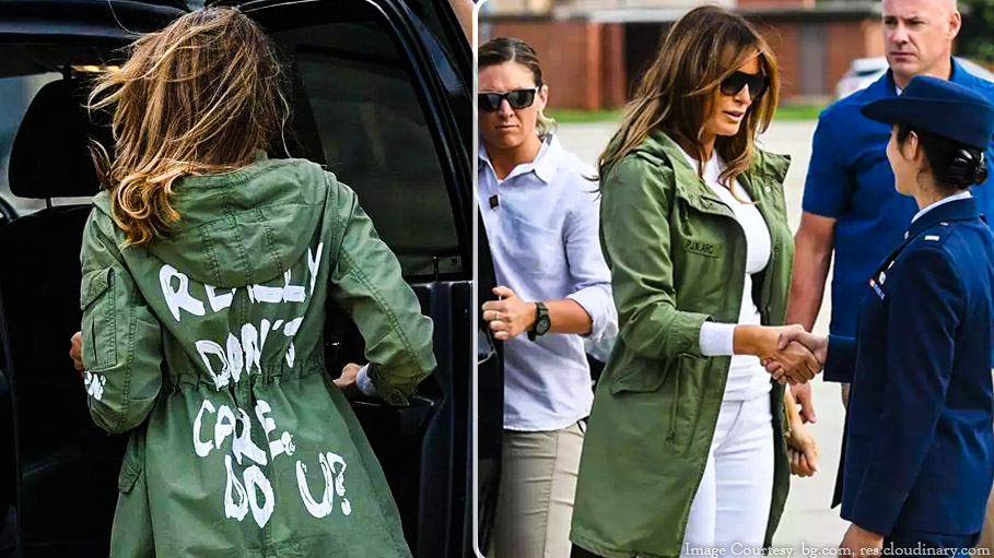 """Melania Trump's Jacket Reads """"I Really Don't Care Do You"""" While on Her Way to Meet Immigration Children"""
