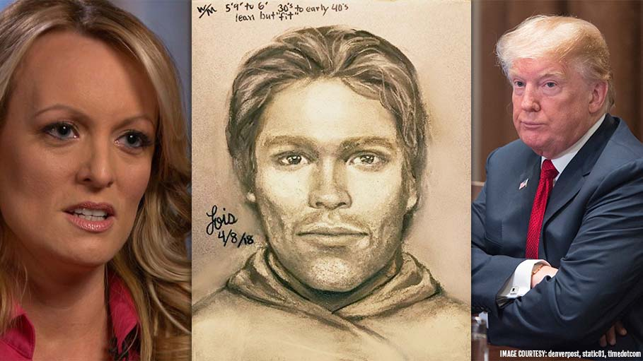 Here's the Sketch of the Man Who Threatened Stormy Daniels over Trump's Affair