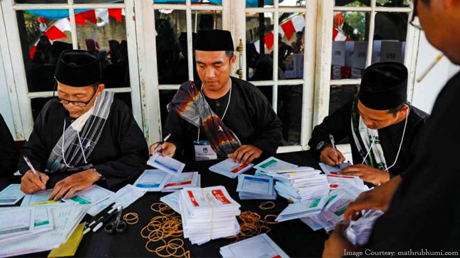 270 Polling Staffs Die Counting Votes in Indonesia