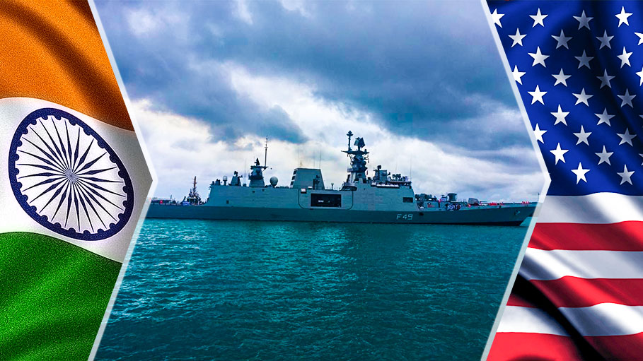 Indian Ships Enter US to Participate in Exercise Malabar 2018
