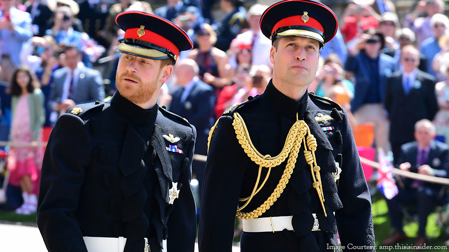 Prince William and Prince Harry to Break British Royal Household