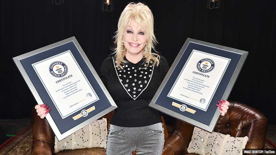 Dolly Parton Earned Two Guinness World Records for Her Chart-Topping Music