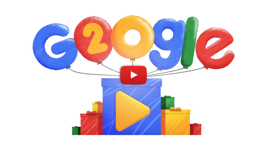 Google Turns 20! Celebrates with This Cute, Nostalgic Doodle Video!
