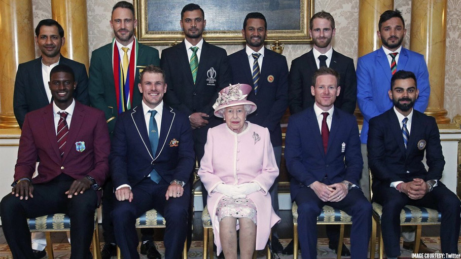 Cricket Captains Met Queen Elizabeth ahead of the Grand Opening of World Cup 2019