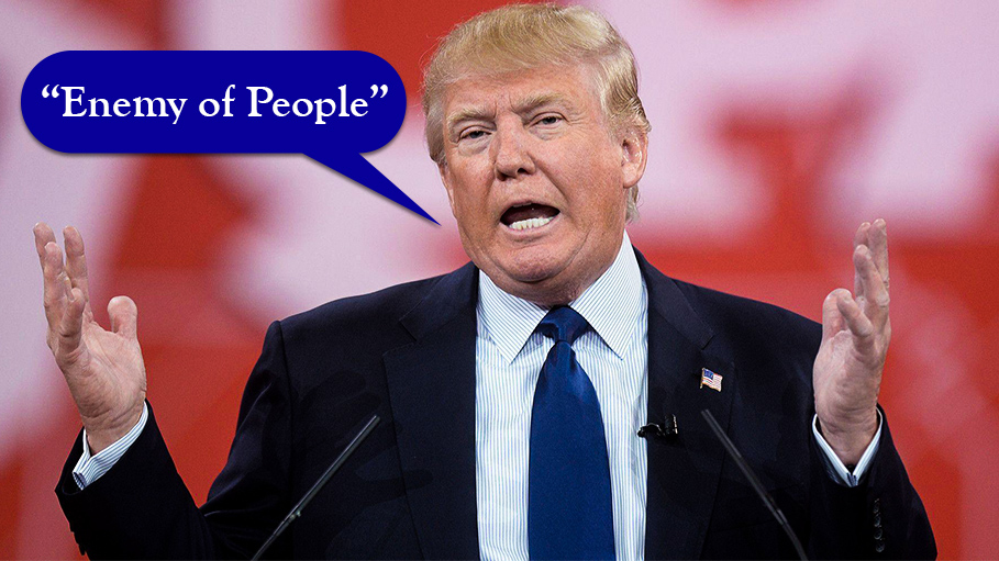 """Media is """"Enemy of People"""", Says Donald Trump"""