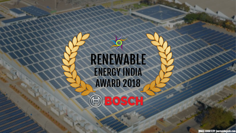 Bosch Bags REI 2018 Award In Solar Rooftop Category