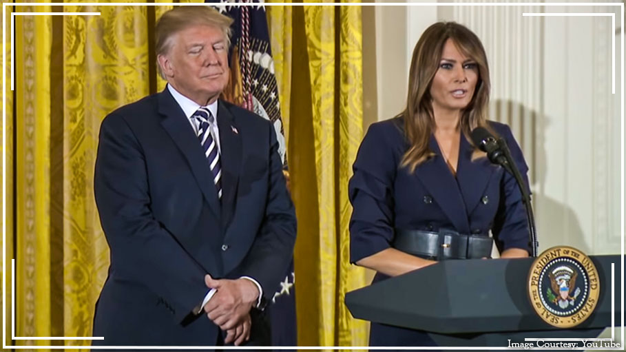 Melania Trump Suits It up for Military Mothers and Spouses Event at the White House and It Really Suits Her Fine
