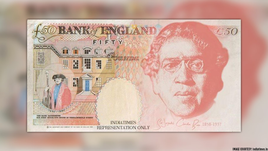 Sir Jagadish Chandra Bose to Feature in 50-Pound Note