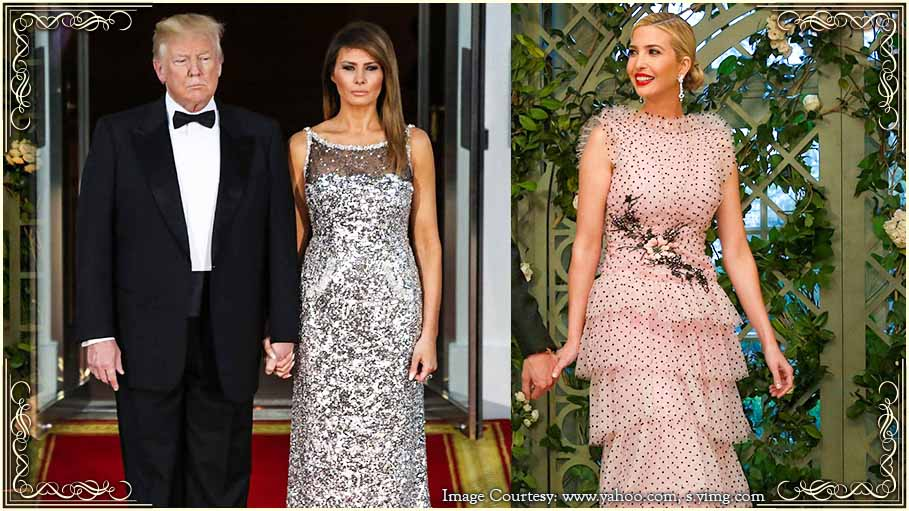 Melania and Ivanka Trump Dazzle in Their Dresses at the First State Dinner of the Trump Administration