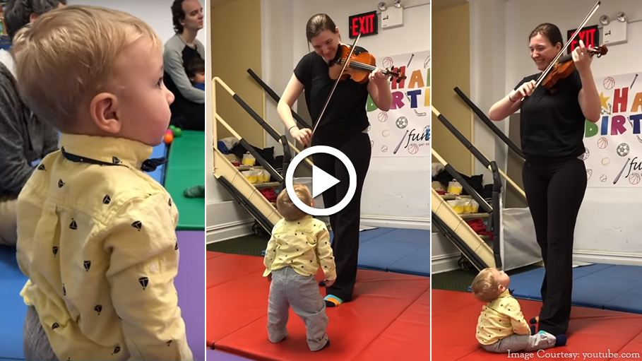 Mom Captures Toddler's Reaction on Hearing Violin for the First Time