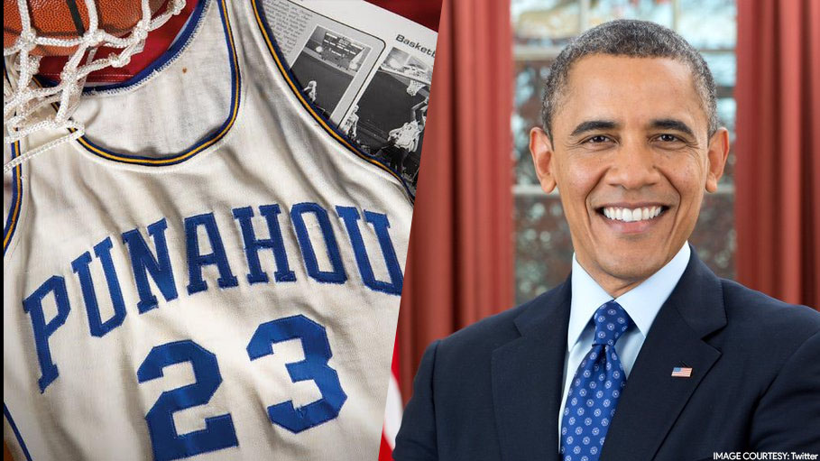 Barack Obama's Basketball Jersey Sold for $120,000