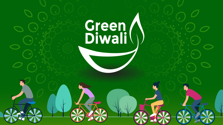 Cycle Ride with a Call for Green Diwali