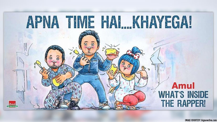 Amul Comes up with Yet Another Captivating Doodle; This Time of 'Gully Boy'