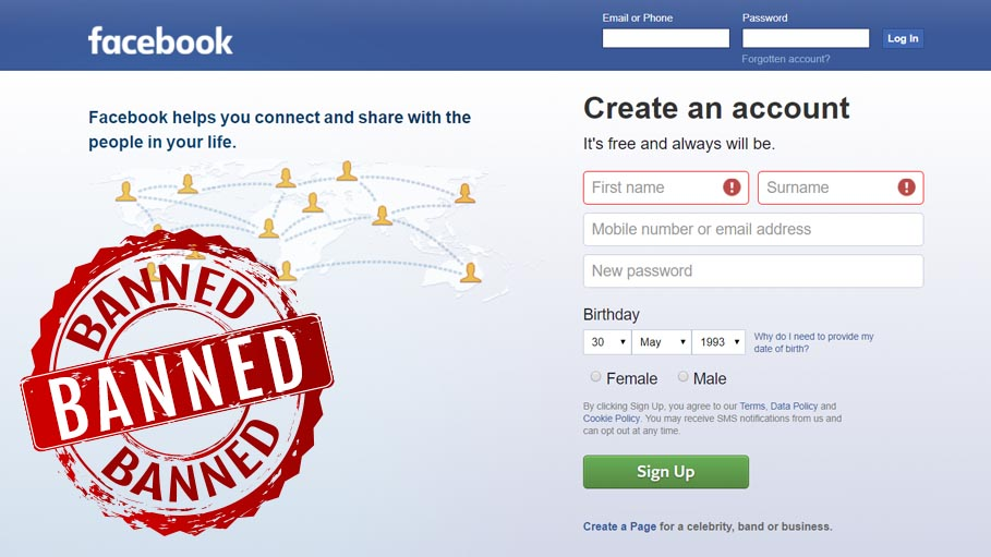 No Facebook, No Fake Profiles - Ban on the Social Media Giant