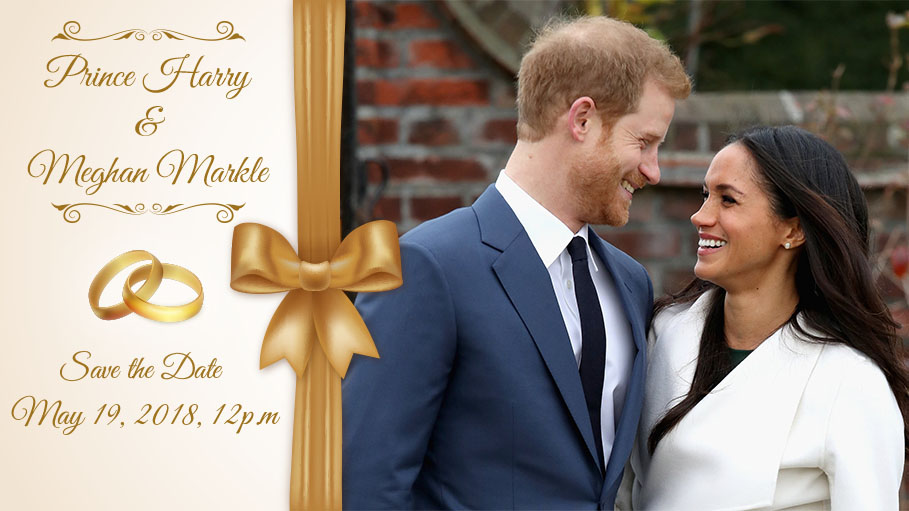 The Wedding of Prince Harry and Meghan Markle to Take Place at 12pm on May 19, 2018