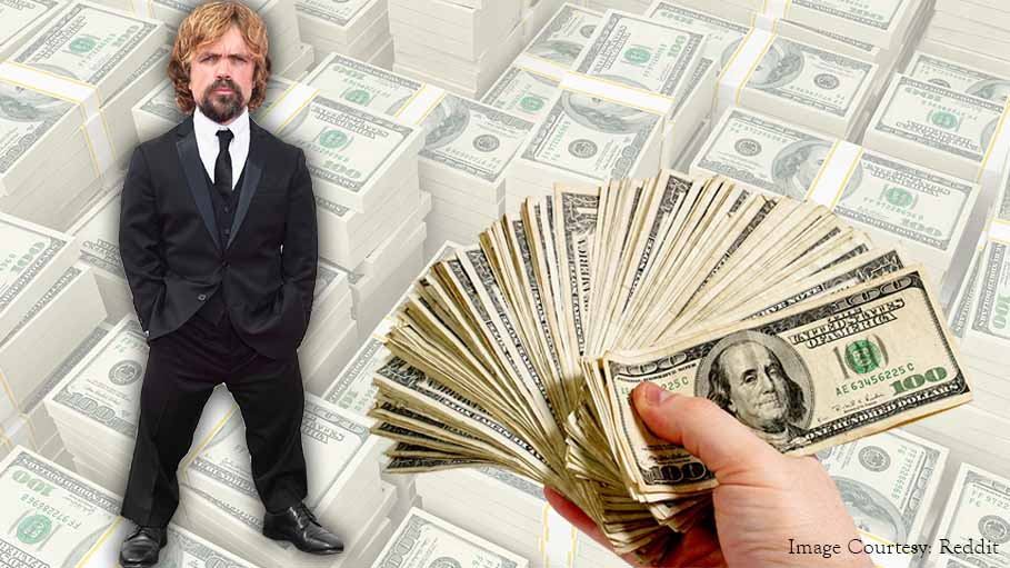 Image result for peter dinklage pictures with money